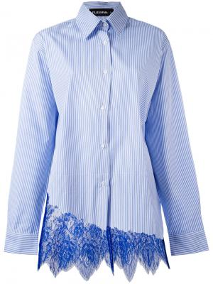 Рубашка Foxy в полоску Filles A Papa. Цвет: синий