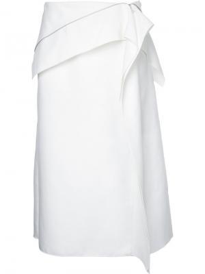 Юбка с асимметричной молнией Dion Lee. Цвет: белый
