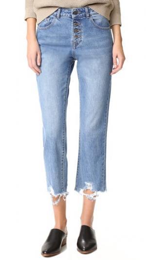 Прямые джинсы-Патти с высокой посадкой DL1961. Цвет: яркие