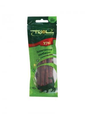 Аппетитные колбаски из утки для кошек TRIOL. Цвет: коричневый