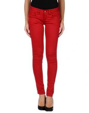 Повседневные брюки MONKEE GENES. Цвет: красный