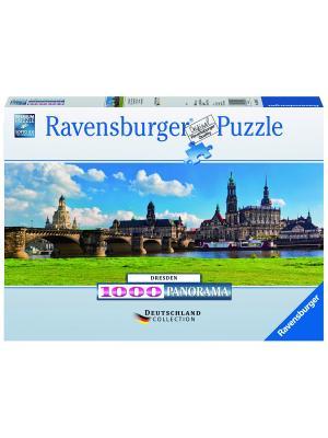 Пазл  Вид Каналетто, Дрезден 1000 шт Ravensburger. Цвет: голубой, зеленый, коричневый