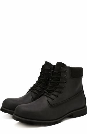 Кожаные ботинки New York на шнуровке Affex. Цвет: черный