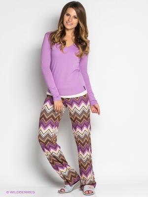 Пижама PENYE MOOD. Цвет: сиреневый, коричневый