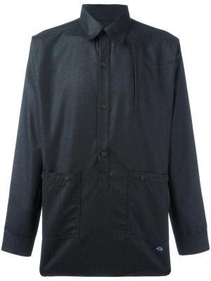 Классическая рубашка Bleu De Paname. Цвет: серый