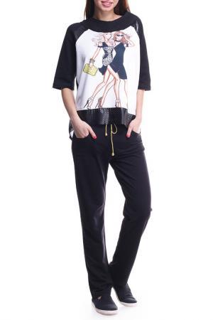 Костюм: кофта, брюки Majaly. Цвет: белый