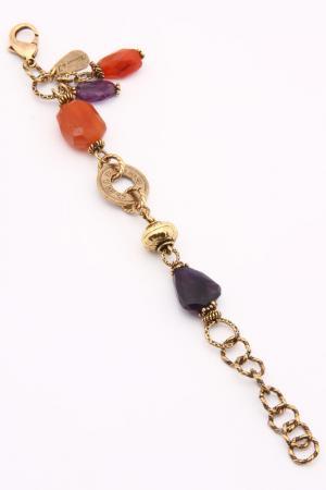 Браслет ALCOZER. Цвет: золотой, фиолетовый, оранжевый
