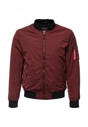Куртка утепленная Alcott. Цвет: бордовый