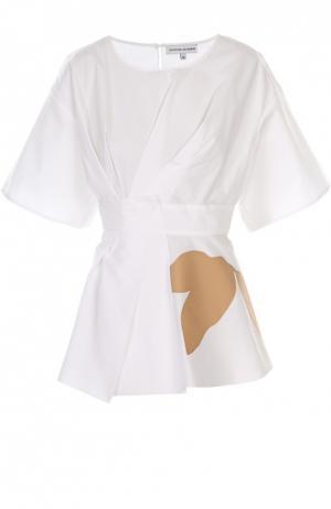 Платье Jonathan Saunders. Цвет: белый