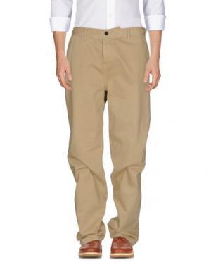 Повседневные брюки WHISTLES. Цвет: песочный