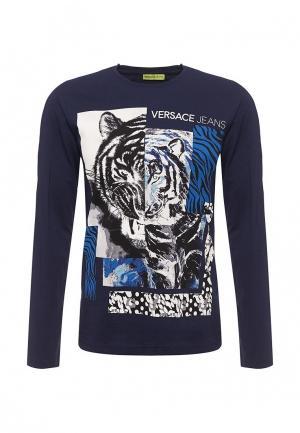 Лонгслив Versace Jeans. Цвет: синий