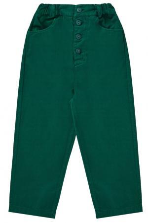 Хлопковые брюки Caramel Baby&Child. Цвет: зеленый