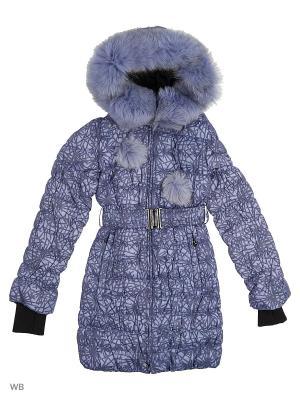 Пальто Arista. Цвет: лазурный, серый