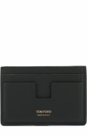Кожаный футляр для кредитных карт Tom Ford. Цвет: темно-зеленый