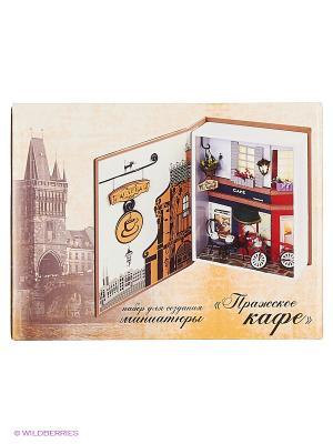 Декор. Набор для создания миниатюры Пражское кафе (005-B) Белоснежка. Цвет: бежевый