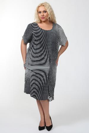 Платье QNEEL Q'NEEL. Цвет: черный, белый