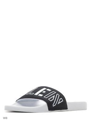 Шлепанцы Calvin Klein. Цвет: черный