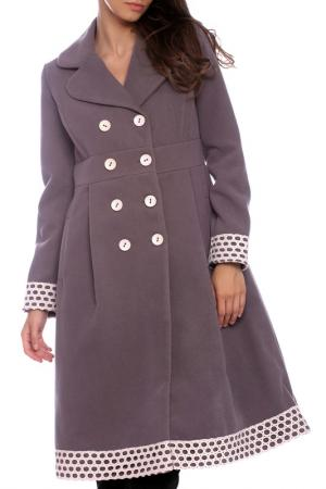 Coat Moda di Chiara. Цвет: gray