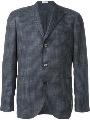 Спортивный пиджак в клетку Boglioli. Цвет: синий