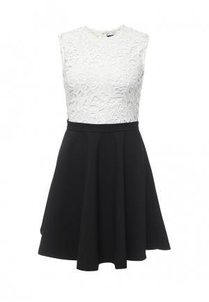 Платье Zeza. Цвет: черно-белый