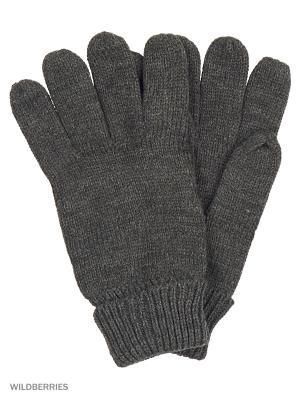 Перчатки Oodji. Цвет: темно-серый
