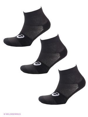 Носки 3Ppk Quater Sock, 3 пары ASICS. Цвет: черный
