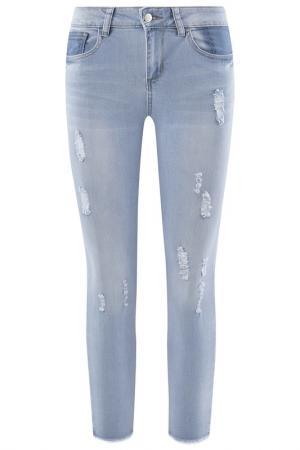 Брюки oodji. Цвет: голубой,джинса