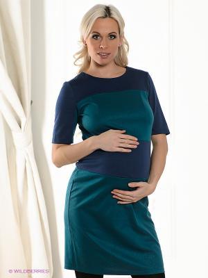 Платье для беременных ФЭСТ 151507А/синий/бирюза