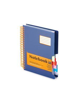 Бизнес-блокнот-1 а5, 200 л. гр., разделители,пластиковая обл. ultimate basics , синий Альт. Цвет: синий