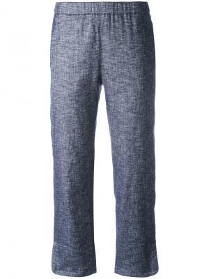 Укороченные брюки с клешем ниже колена Theory. Цвет: синий