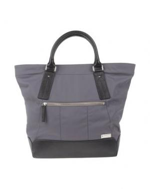 Большая сумка из текстиля GIULIANO FUJIWARA. Цвет: серый