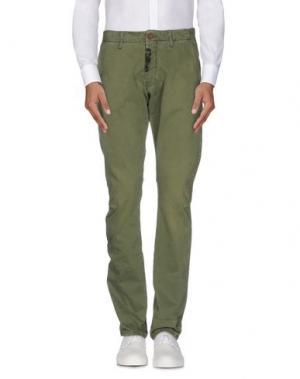 Повседневные брюки REIGN. Цвет: зеленый