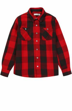 Хлопковая рубашка в клетку Stella McCartney. Цвет: красный