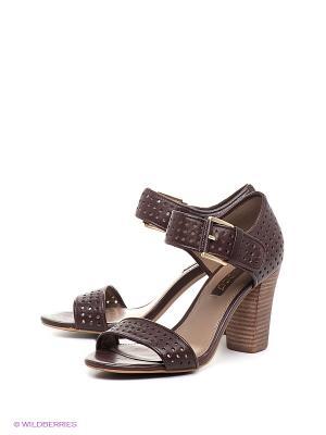 Босоножки на каблуке ECCO. Цвет: темно-коричневый