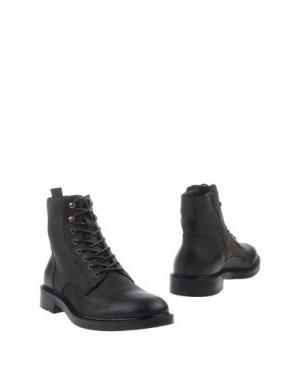 Полусапоги и высокие ботинки BOEMOS. Цвет: темно-коричневый