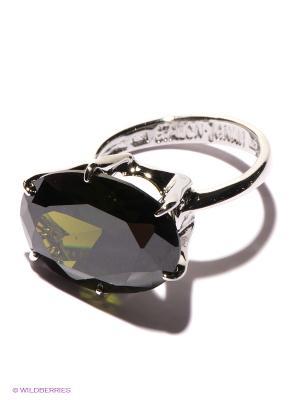 Кольцо Jenavi. Цвет: серебристый, зеленый