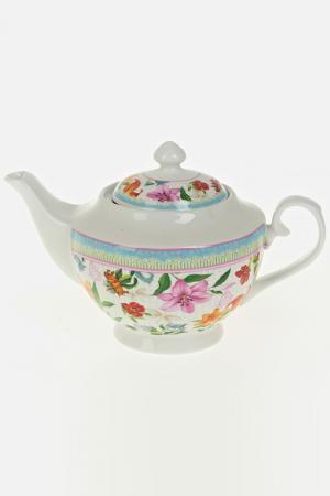 Чайник заварочный, 1100 мл Nouvelle. Цвет: белый, голубой, красный