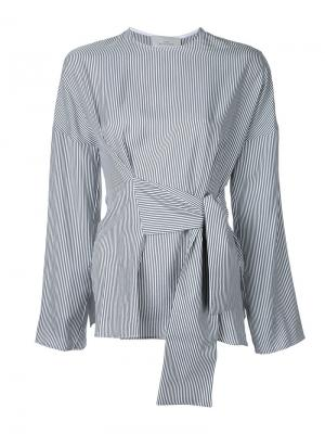 Блузка с запахом Studio Nicholson. Цвет: серый