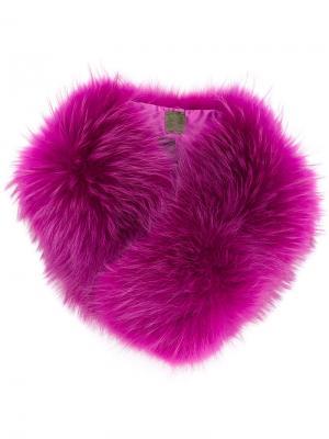 Меховой воротник Mr & Mrs Italy. Цвет: розовый и фиолетовый