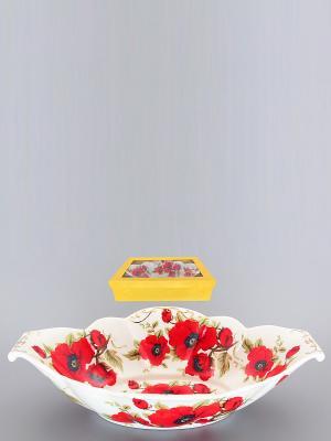 Блюдо для горячего Маки Elan Gallery. Цвет: красный, белый