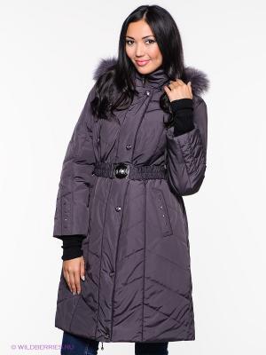 Пальто Alisa Line. Цвет: темно-фиолетовый