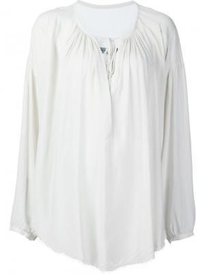 Блузка свободного кроя Raquel Allegra. Цвет: белый
