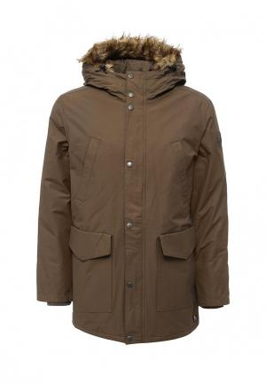 Куртка утепленная DC Shoes. Цвет: коричневый