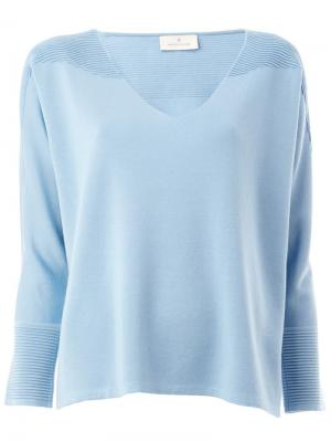 Блузка с ребристыми деталями Maison Ullens. Цвет: синий