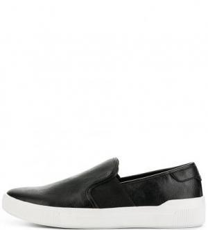 Черные слипоны с втачной стелькой ALDO. Цвет: черный