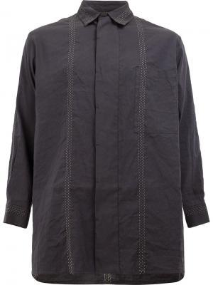 Рубашка с потайной пуговичной планкой Uma Wang. Цвет: серый