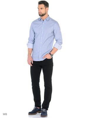 Рубашка - PORTO8 MANGO MAN. Цвет: темно-синий