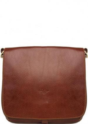 Кожаная сумка через плечо Boldrini. Цвет: коричневый