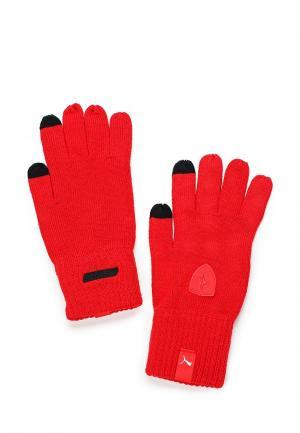 Перчатки PUMA. Цвет: красный