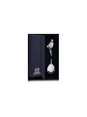 Ложка чайная Кувшинка пр.925+футляр АргентА. Цвет: серебристый